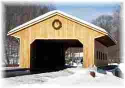 Covered Bridge with Wreath